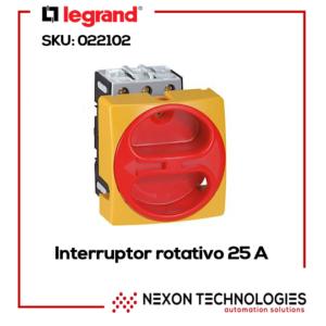 Interruptor rotativo Legrand-022102 25A