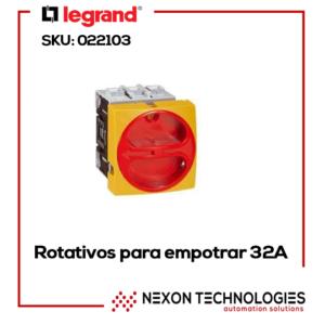 Interruptor rotativo Legrand-022103 32A