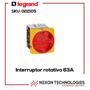 Interruptor rotativo 63A Legrand-022105