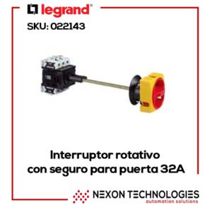 INTERRUPTOR ROTATIVO PARA PUERTA LEGRAND 32A SKU 022143