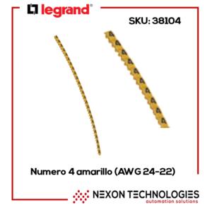 #4-Amarillo Legrand-38104 (AWG 24-22)