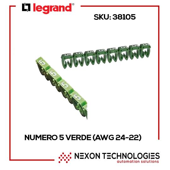 numero 5 verde (AWG 24-22)