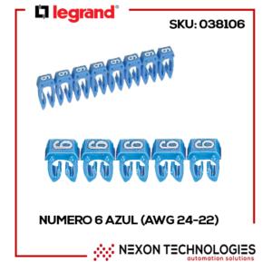 #6-AZUL LEGRAND (AWG 24-22) SKU: 038106