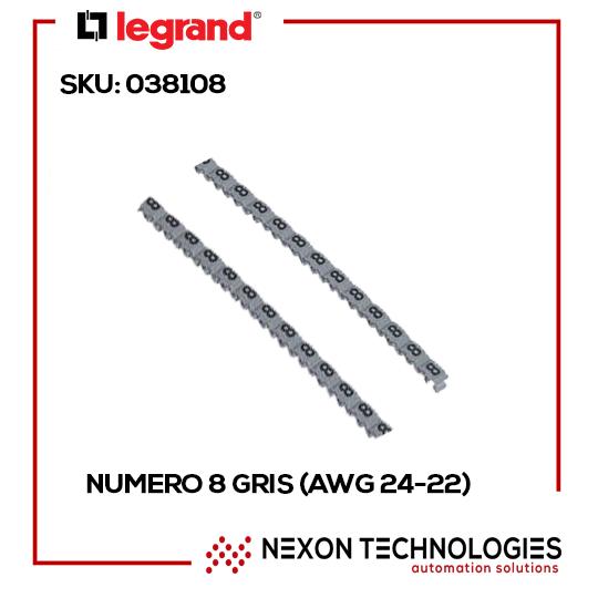 numero 8 gris (AWG 24-22)