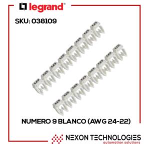 #9-BLANCO (AWG 24-22) SKU: 038109