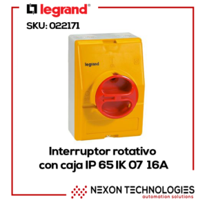 Interruptor rotativo con caja 16A Legrand-022171