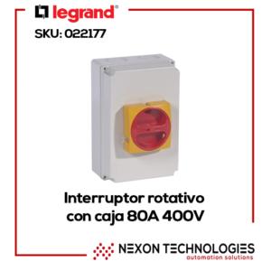 Interruptor rotativo tripolar Legrand-022177