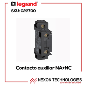 Contacto Auxiliar NA+NC 400V 4A Legrand:022700