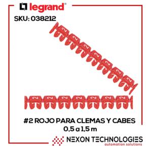 #2-Rojo Señalizador clemas-cables Legrand:038212
