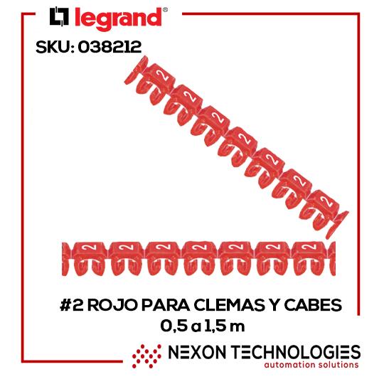 #2 rojo para clemas y cables 0,5 a 1,5 m