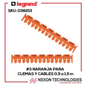 #3-Naranja Señalizador clemas cables SKU:038213