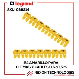 #4-Amarillo p/clemas y cables 0.5-1-5m Legrand:038214
