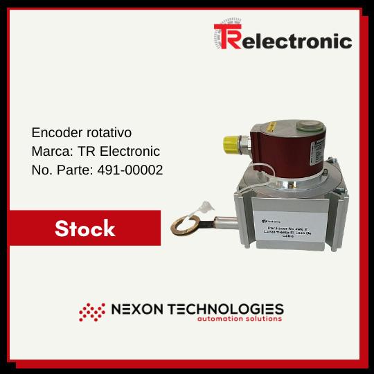 Encoder rotativo Tr Electronic parte 491-00002 en stock en Nexon Technologies