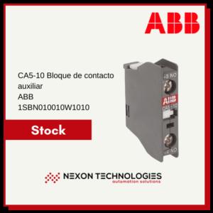 Bloque de contacto auxiliar 1SBN010010W1010