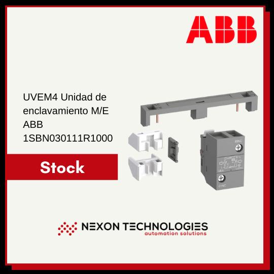 UVEM4 Unidad de enclavamiento ME ABB 1SBN030111R1000 stock en Nexon Technologies