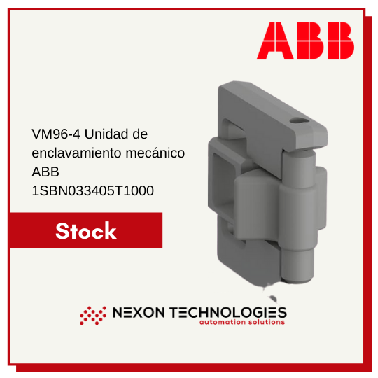 VM96 4 Unidad de enclavamiento mecánico ABB 1SBN033405T1000 stock en Nexon Technologies